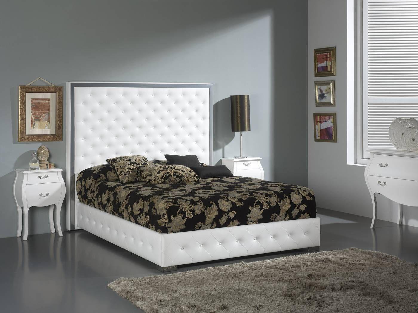 Cama o Cabecero tapizado en polipiel, para cama de 150 o 180 ...