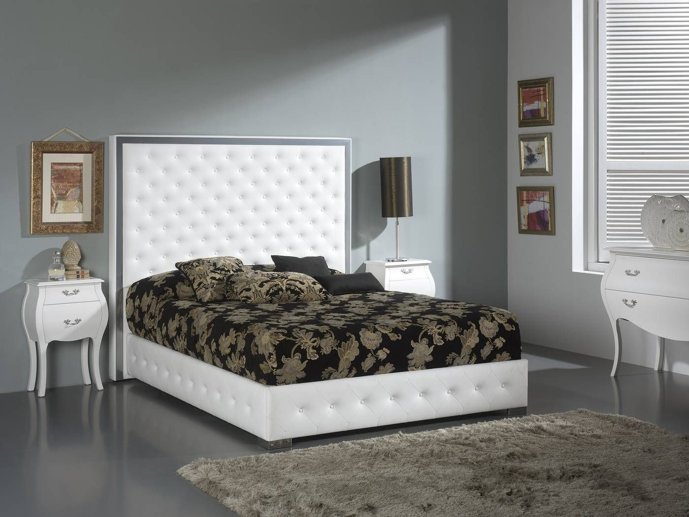 Cama o cabecero tapizado en polipiel para cama de 150 o - Cabecero cama 180 ...