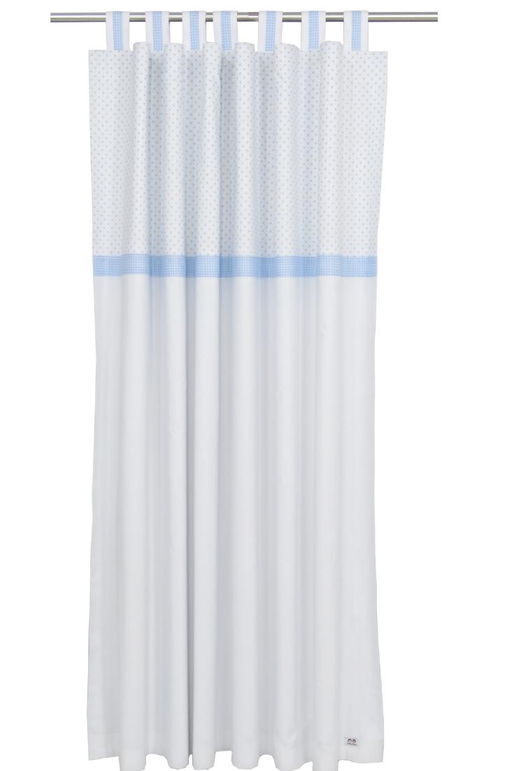 Baby Light Blue White Nursery Curtains Custom Nursery Curtain