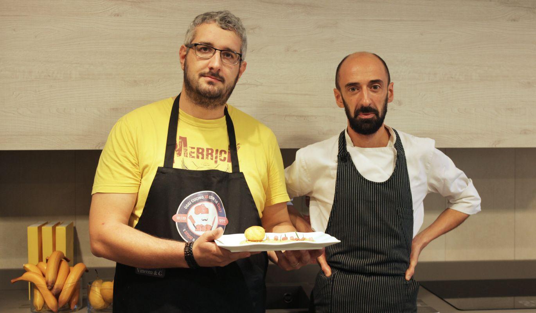 Andrea   Uovo fritto su purea di ceci e pancetta   #SbattutiInCucina