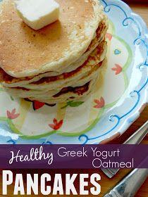 Ally's Sweet and Savory Eats: Healthy Greek Yogurt Oatmeal Pancakes
