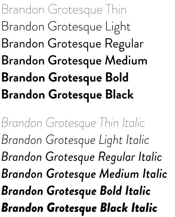 Brandon grotesque free fonts font type pinterest for Bureau grotesque