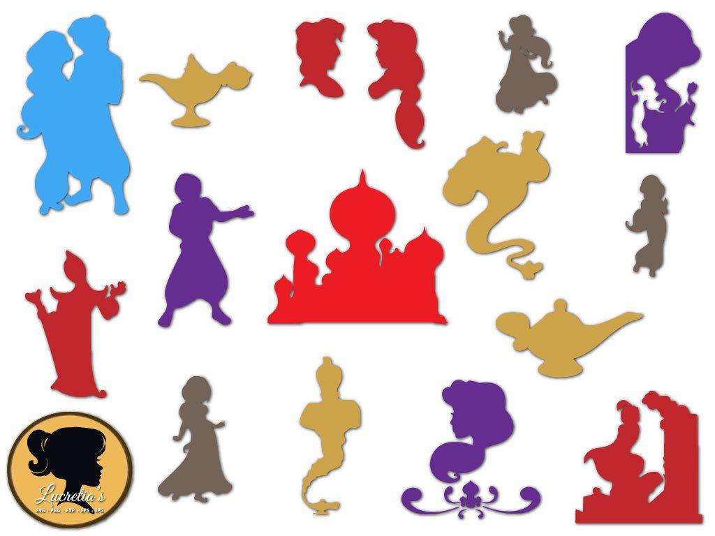 Aladdin De Disney Aladdin Svg Silhouette De Princesse Etsy