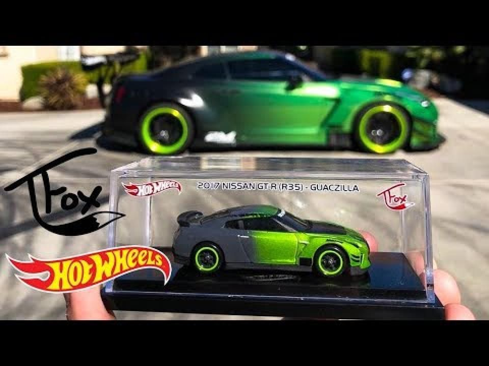 New Tanner Fox Hot Wheels Nissan Gt R Guaczilla Tanner Fox