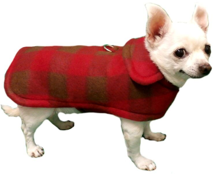 Small Dog Fleece Coat with D-ring | He's a keeper | Pinterest ...