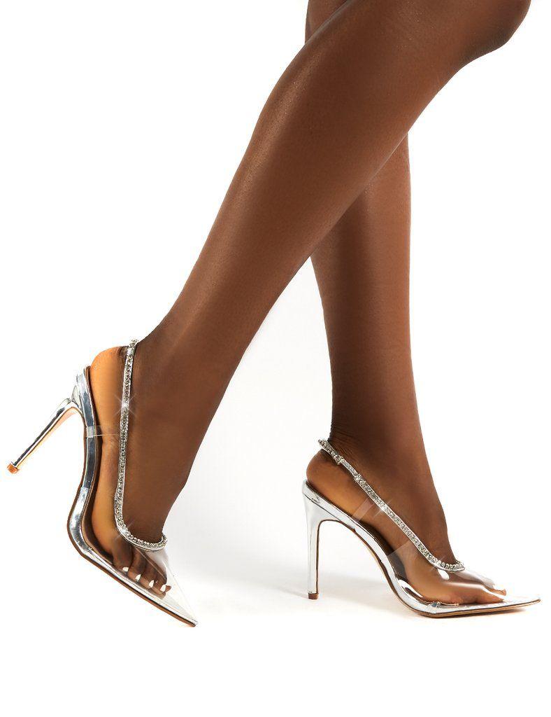 Scrunchie Black Ruffle Strap Square Toe Stiletto Heels in