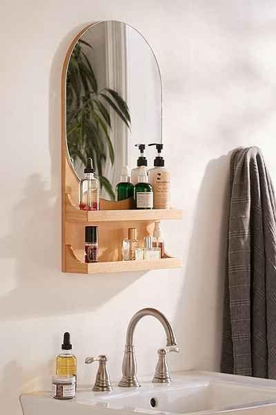 Tablette avec miroir Viggo en 2019 | Miroir salle de bain ...