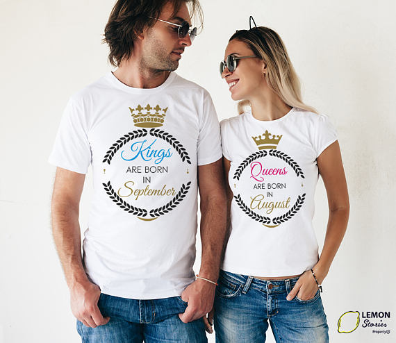 Any Month Price For 1 T Shirt King Born Queen