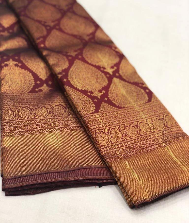 "Photo of KANJIVARAMS on Instagram: ""Pure Gold zari kanjivaram silk sarees  Pl contact us at +918056477235/whatsapp for orders and details We accept online…"""