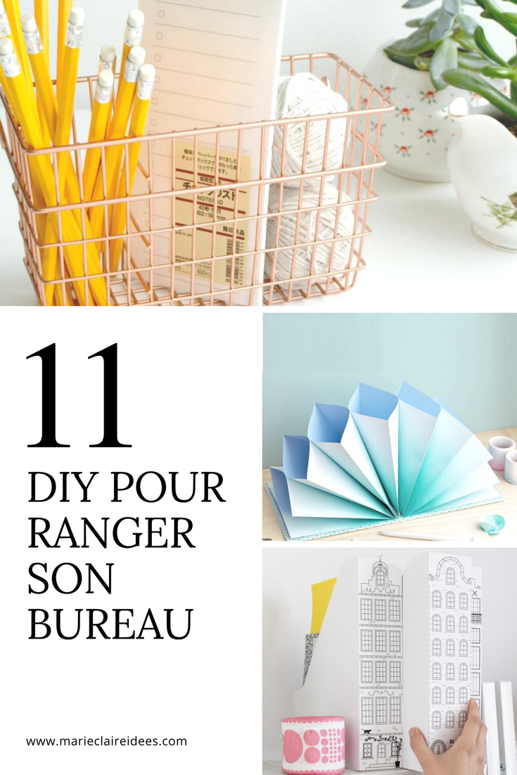 11 DIY pour ranger son bureau Organizations Bureaus and Organizing