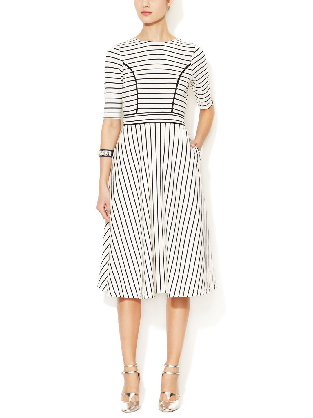 Striped A Line Dress By Cynthia Rowley At Gilt