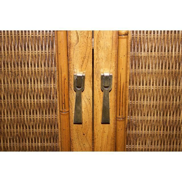 Image Of Mid Century Faux Bamboo Armoire By Lane Furniture