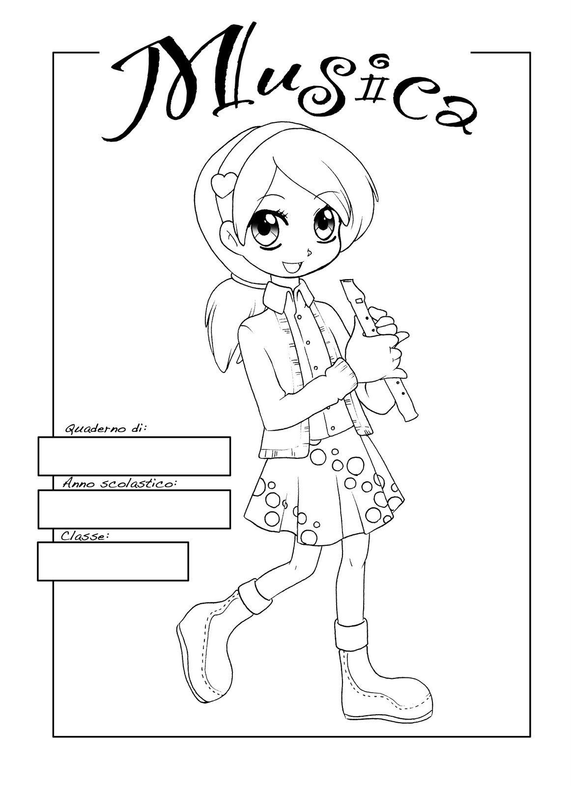 Schede didattiche per la scuola primaria giochi disegni - Note musicali da colorare pagina da colorare ...