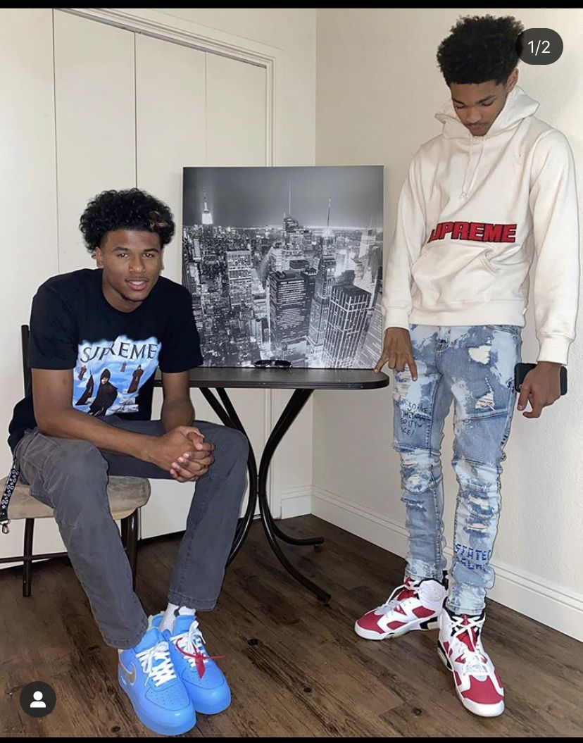 Dior Johnson Jalen Green In 2020 Swag Outfits Men Swag Outfits Boys With Curly Hair