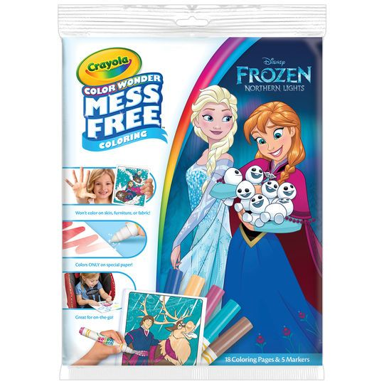 Crayola Color Wonder Disney Frozen 2 Paper Markers In 2020 Color Wonder Frozen Coloring Coloring Pages