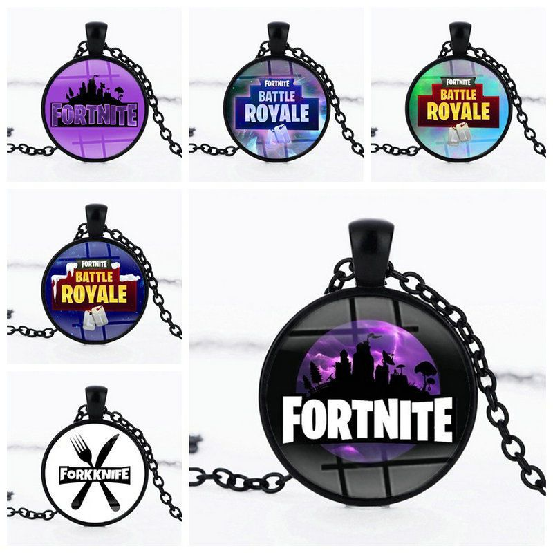 Game Fortnite Necklace Time Gem Pendants Rope Chain
