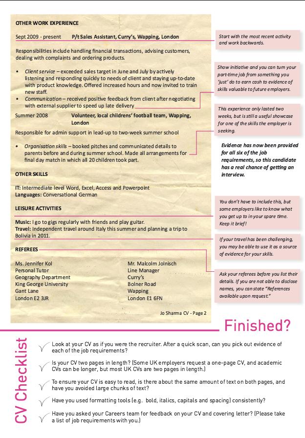 Good Cv Resume Checklist Httpresumesdesigngood Cv Resume