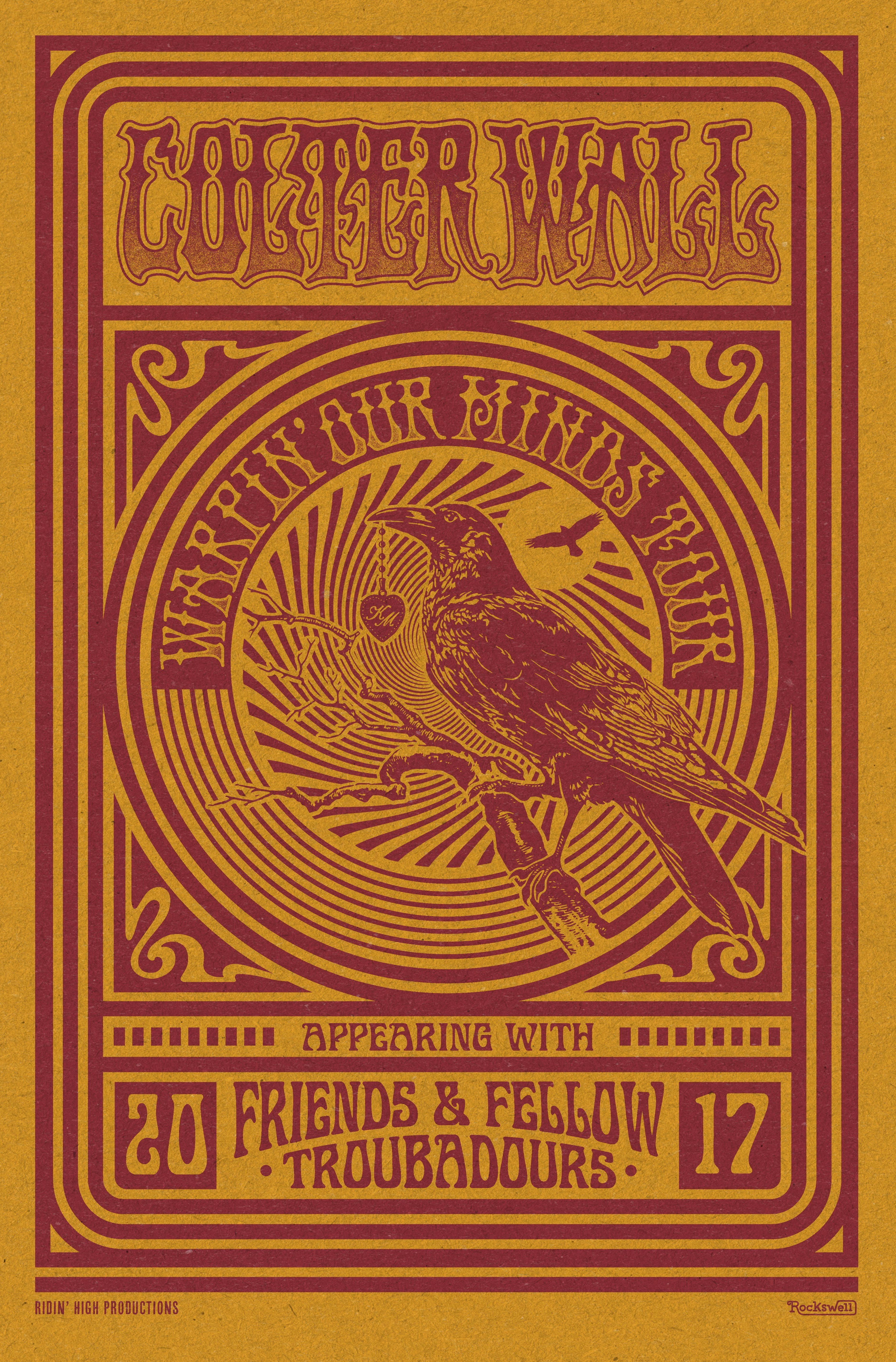 colter wall warpin our minds 2017 tour poster by aaron on colter wall id=14023