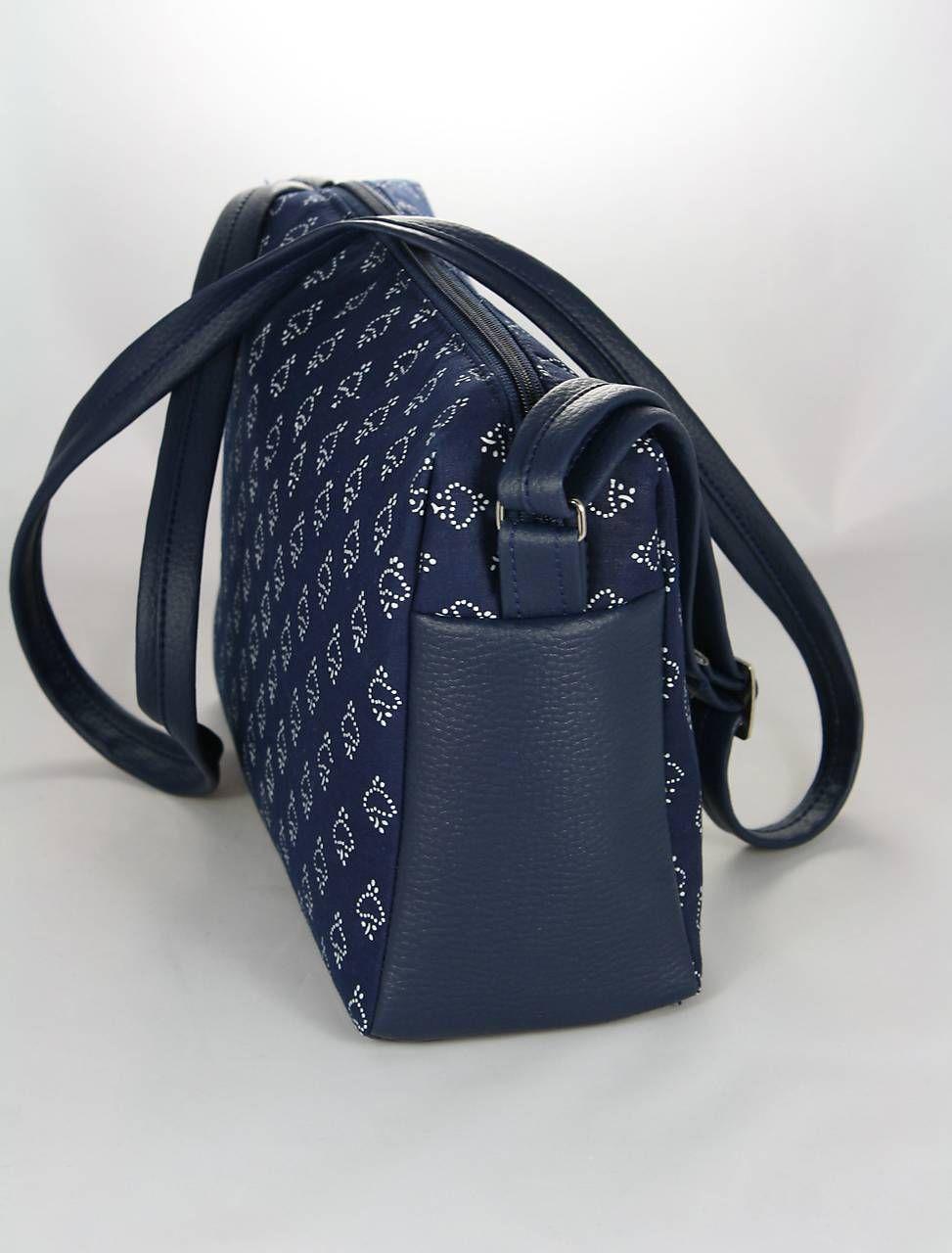 c59fd742600f Kabelky - Rebeka modrá + modrotlač 5