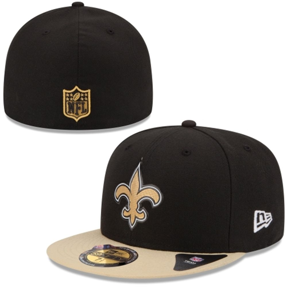 b4d715dd48e ... coupon for mens new orleans saints new era black 2015 nfl draft on  stage 59fifty fitted