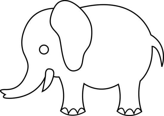 Cute Elephant Line Art Free Clip Art Elephant Template Elephant Clip Art Elephant Outline
