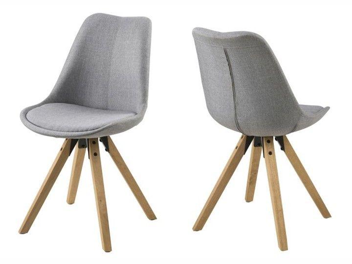 Hochwertige Stühle anra esszimmerstuhl wartezimmerstuhl 2er set stoff hellgrau