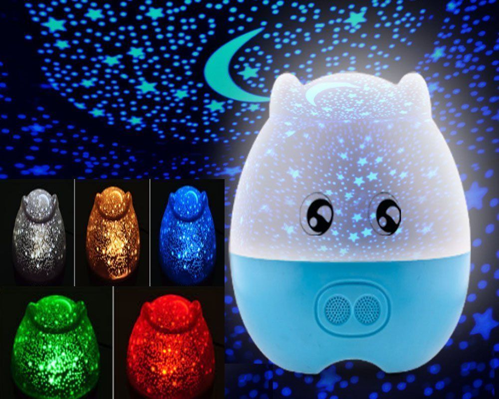 Night light projector lamp - Kangsanli Mini Pig Shape Rotating Projection Sky Star Master Led Projector Night Light Kids Bedroom Bed Light For Christmas Light With Speaker Creative