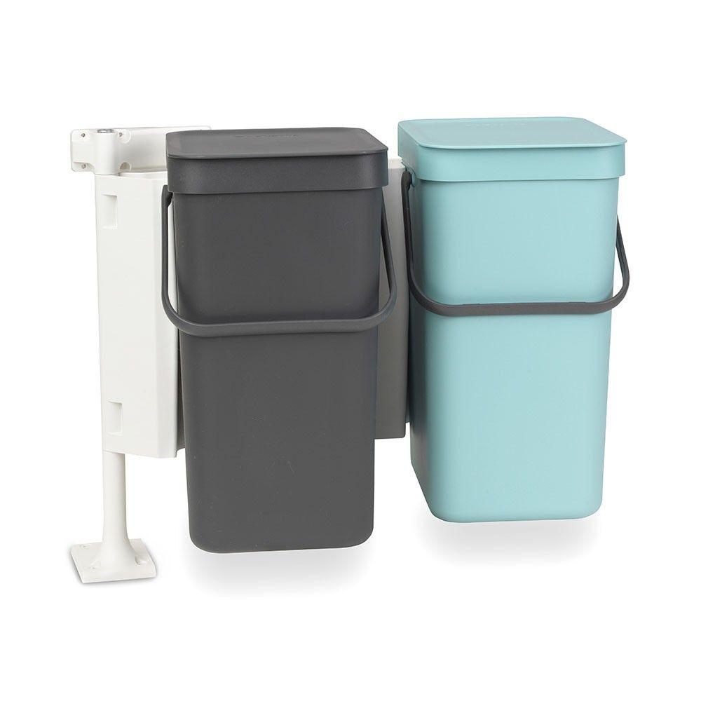 Sort Go Built In Waste Bin 2 X 12 L Brabantia Trash Can Sorting