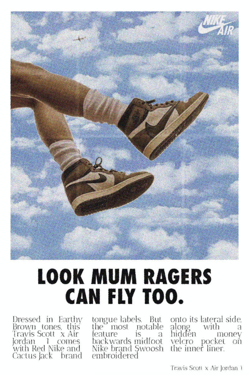 Travis Scott 'Look Mum Ragers Can Fly' Poster