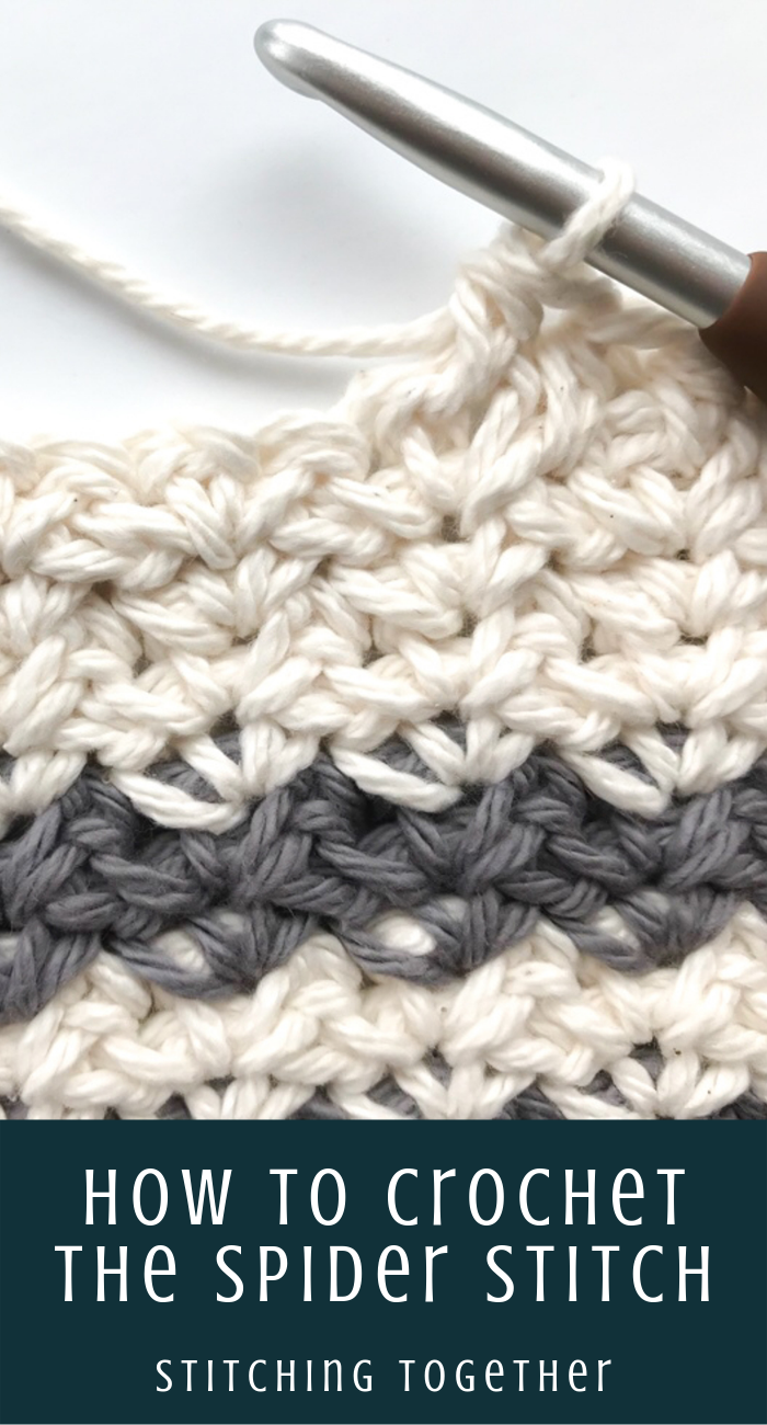 How to Crochet the Spider Stitch #crochetstitches