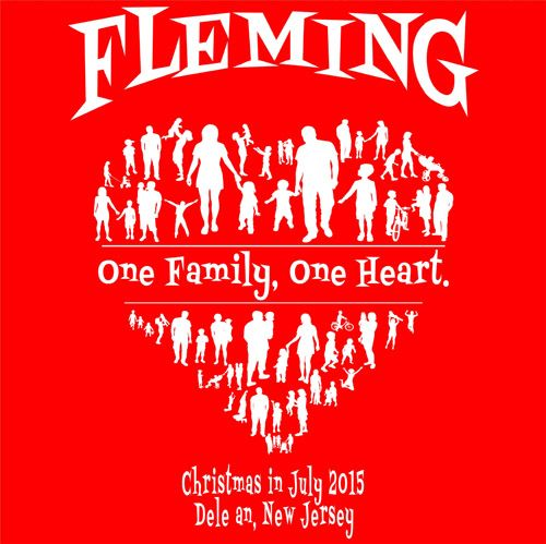 Fleming Family Reunion - One Family, One Heart #reuniontees - family reunion templates