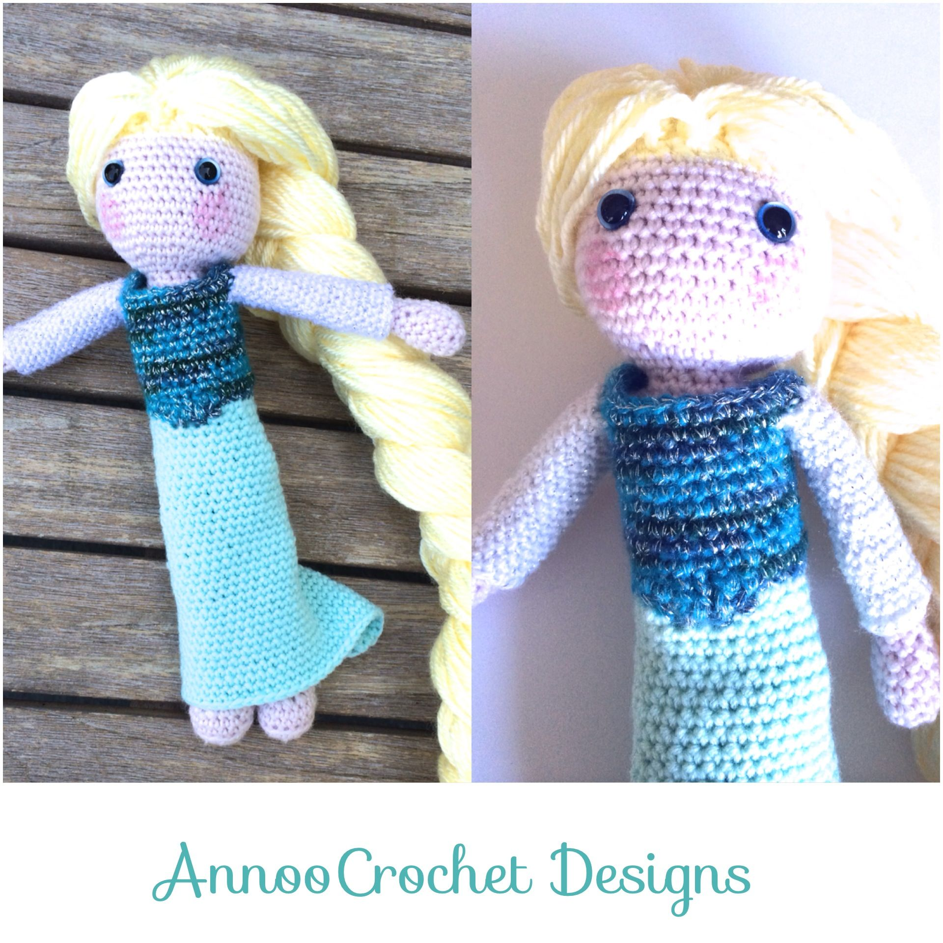 Elsa Free Tutorial By AnnooCrochet Designs Could make it as Katniss for a Hunger Games fan