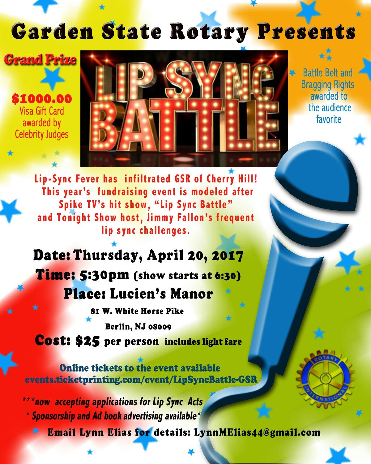 Lip sync battle poster for fundraising event