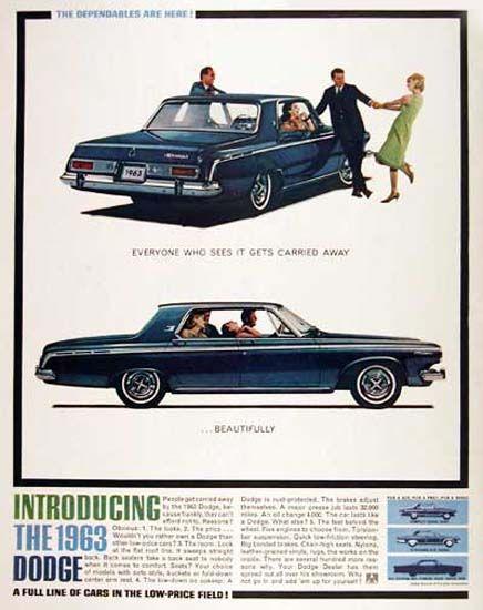 Dodge Polara Sedan 1963 LowPrice Field Vintage Ads