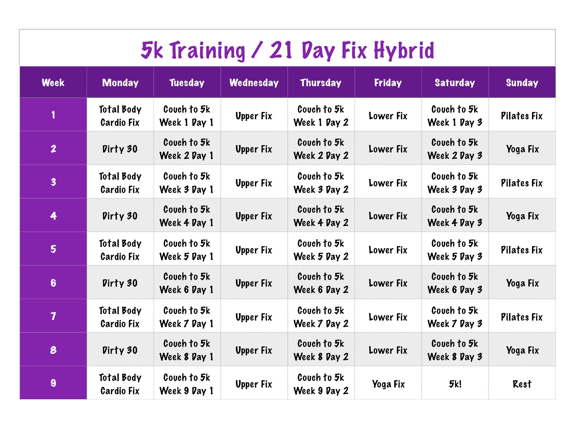 5k day fix hybrid I Workout Pinterest