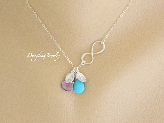 stone ring necklace two dual birthstone bfeu gold listing personalized il