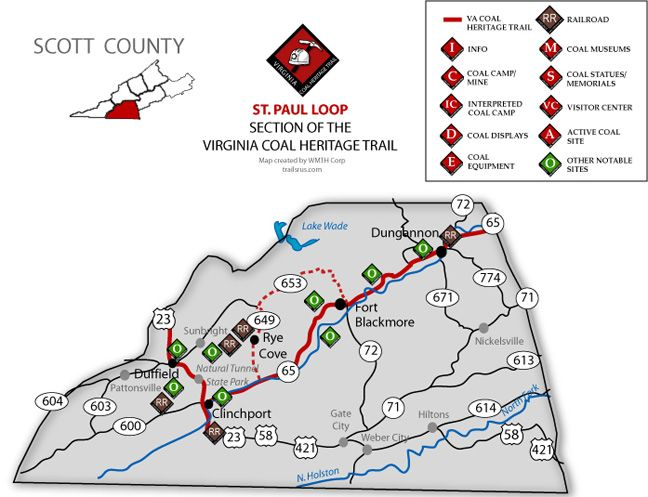 Virginia Coal Heritage Trail Scott County My Home Town And: Wise County Va Map At Slyspyder.com