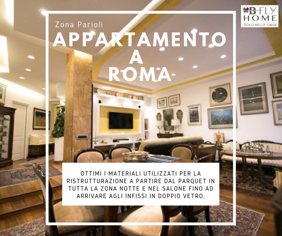 Proponiamo appartamento di 180mq a Roma, in zona Parioli. Strada riservata e tranquilla, palazzo anni '50 sistemato esternamente da due anni. In vendita a €980.000.