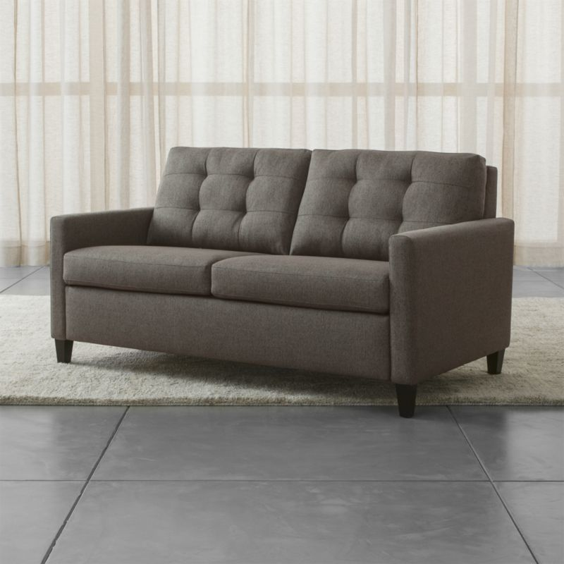 Karnes 71 Queen Sleeper Sofa Vee Life Nickel Crate And Barrel