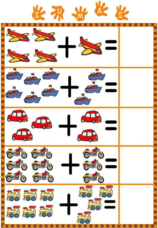 2014-07) Addition, 5-10 | Moyens de transport | Pinterest | Math ...