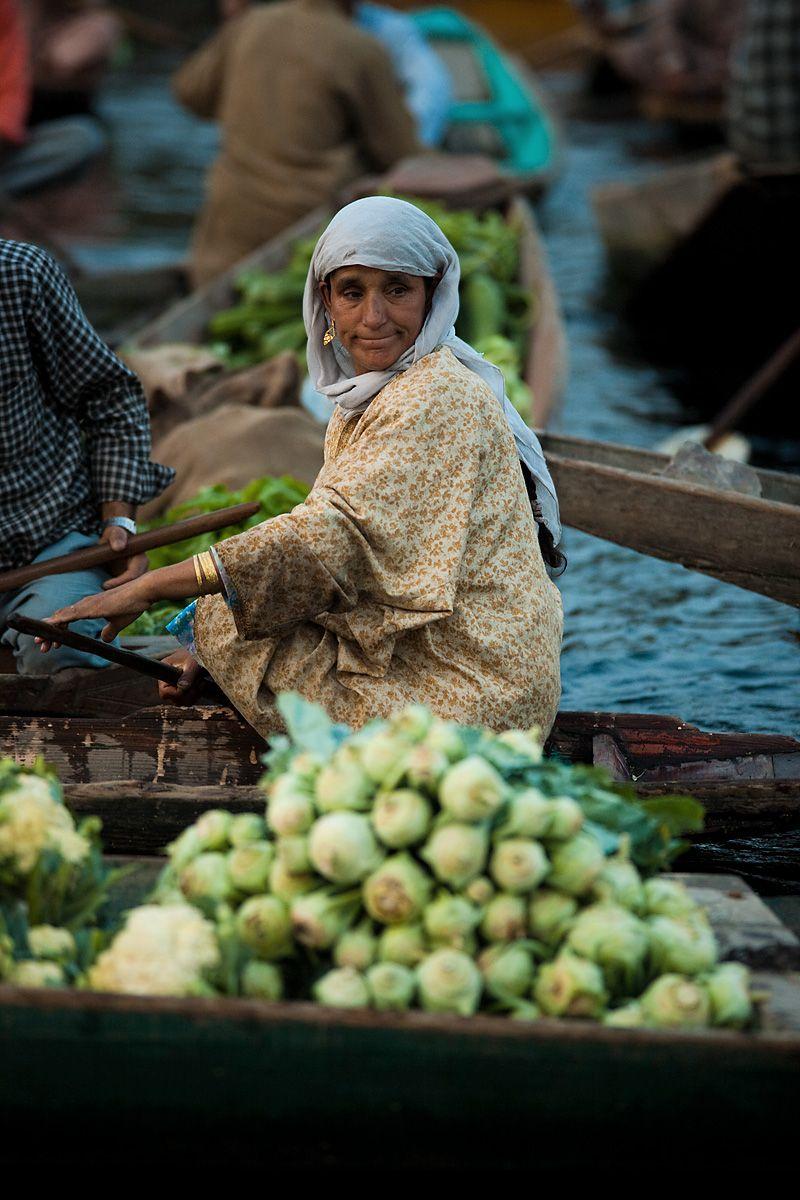 Floating market . Srinagar Kashmir
