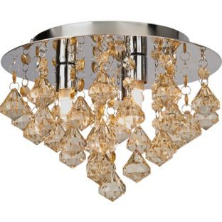 Buy eve droplet 3 light flush ceiling fitting champagne at argos buy eve droplet 3 light flush ceiling fitting champagne at argos aloadofball Image collections