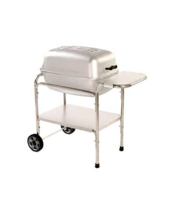 Portable Kitchen Cast Aluminum Charcoal Grill Review