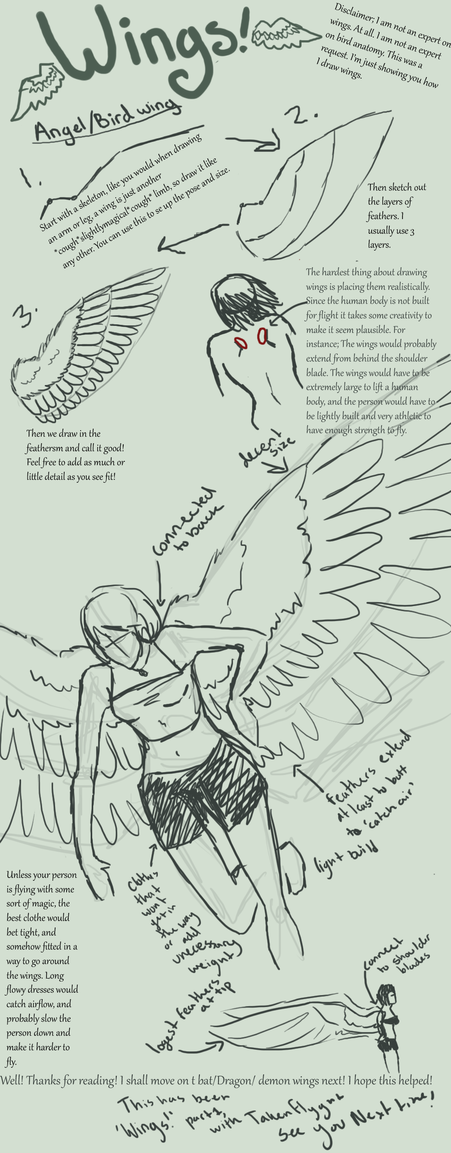 Wings, Part1 Angel-Bird wings by TakenFlyght.deviantart.com on ...