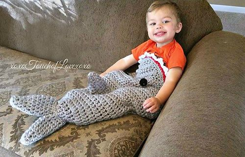 Fast And Easy Shark Tail Blanket Pattern By Sheila Hunt