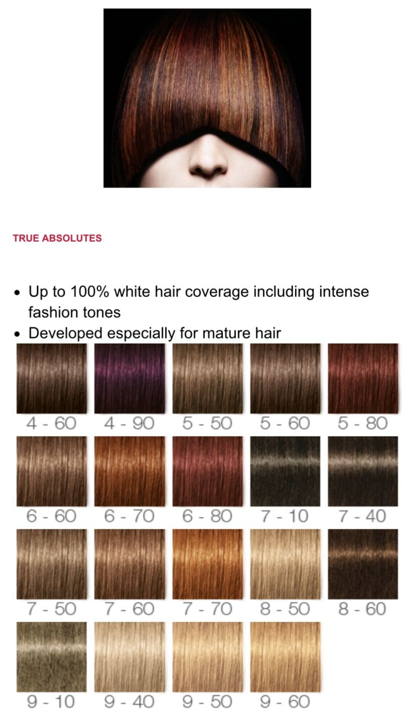 Pin By Nicole Hedley On Colour Technology Schwarzkopf Hair Colour Hair Color Chart Hair Color