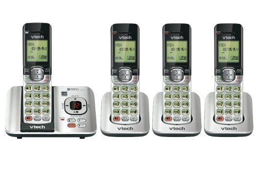VTech CS6529-4 DECT 6.0 Phone Answering System with Caller ID/Call Waiting, 4 Cordless Handsets