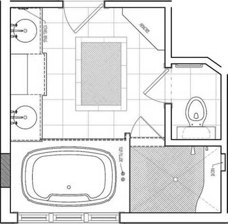 Master Bathroom Floor Plans With Walk In Shower