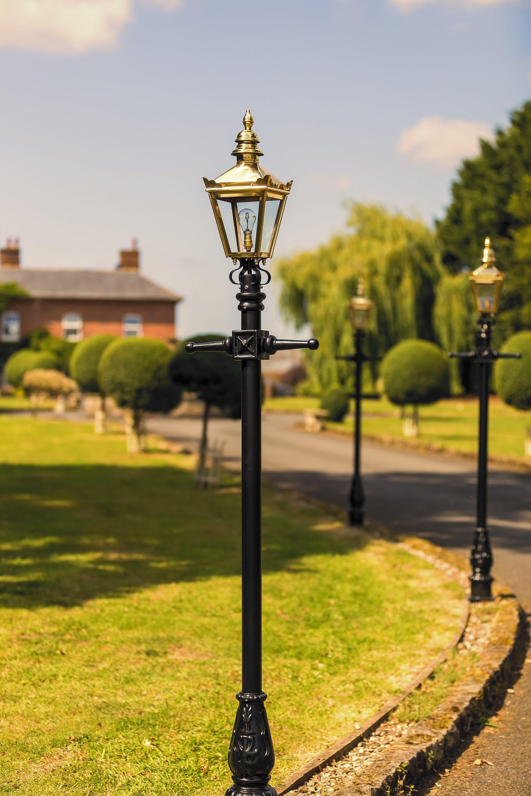 Polished Brass Kensington Lamp Post 2 25m Lamp Post Victorian Lamps Iron Lamp Post