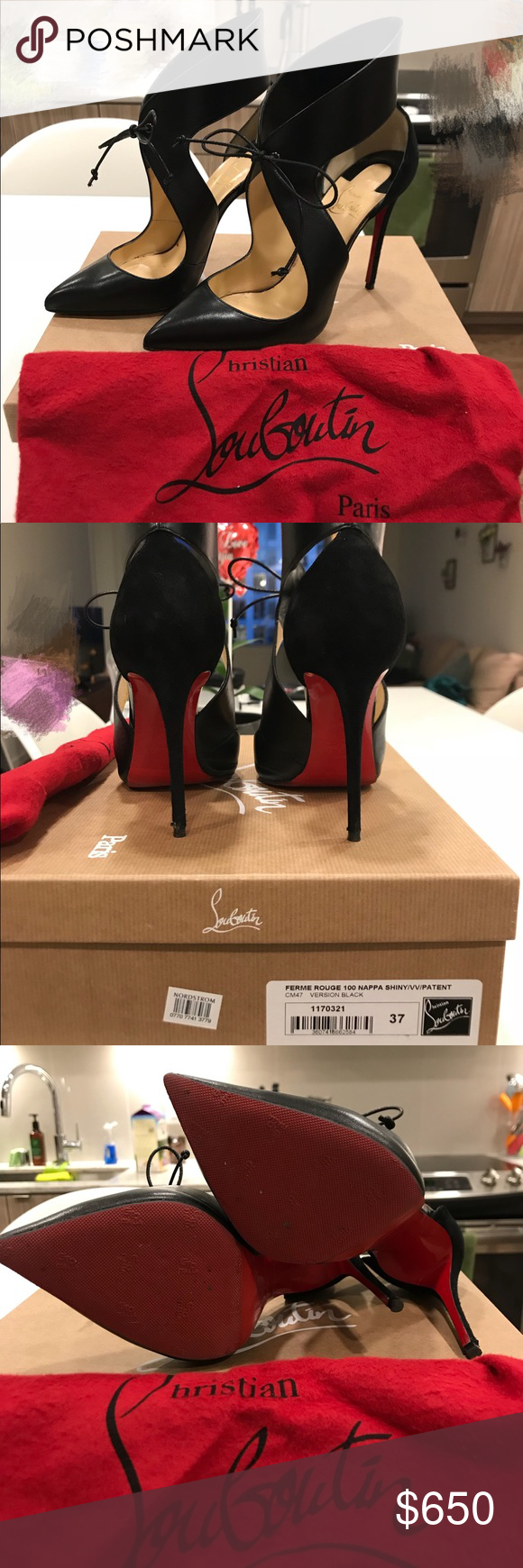 6dd4a1355d7 Christian Louboutin 100cm Heels Only worn twice. Bought from ...